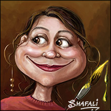 Shafali's Caricatures, Portraits, and Cartoons By Shafali – Writing about art using her art to bring a smile + tutorials involved