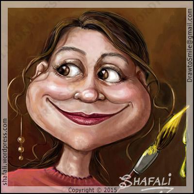 Caricature, Portrait, Cartoon Avatar - Shafali the Caricaturist.