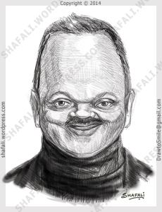 caricature, cartoon, digital sketch of jesse jackson senior - PUSH, civil right activist