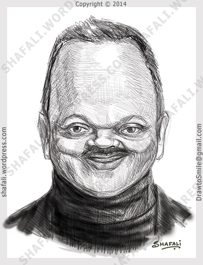 caricature, cartoon, digital sketch of jesse jackson senior - PUSH, civil right activist
