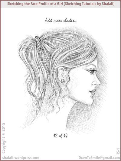 Sketching tutorials - How to sketch the face of a beautiful girl.