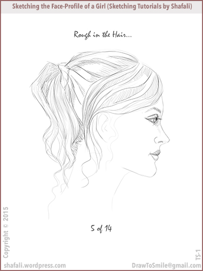 Sketching Tutorials by Shafali - Drawing a beautiful face - how to sketch faces.