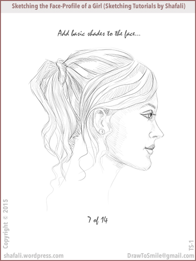 Sketching tutorials by shafali - How to draw a pretty girl's head.