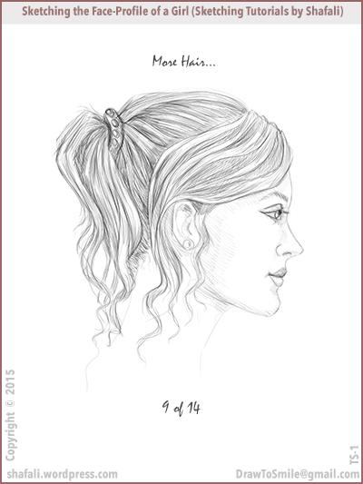 Sketching tutorials - shafali - Drawing hair and sketching a beautiful girl.