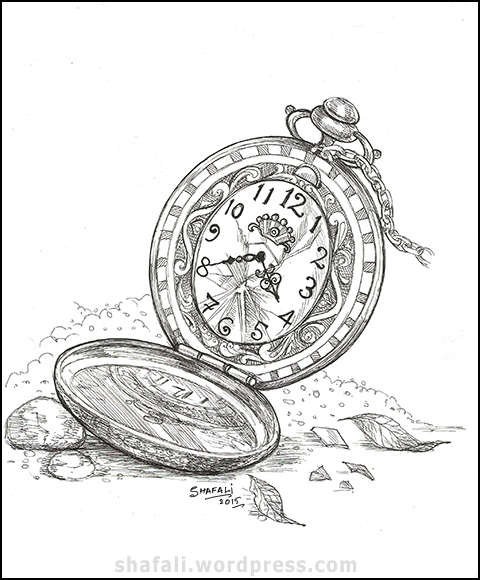 Creativity Carnival The Pocket Watch on Mount Rushmore Coloring Page