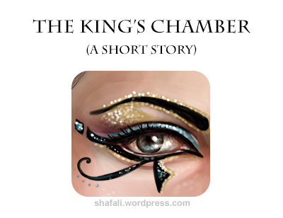 "Egyptian Eye - Artwork for short story ""The King's Chamber"" by shafali."