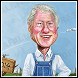 President Bill Clinton - Cover Art and Two Page Spread. - Illustration done for Talk Business and Politics Magazine.
