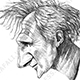 Caricature of Hollywood actor Liam Neeson