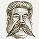 Caricature of Stalin the Russian Dictator.