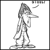 Toony Prezels cartoons - Steel.