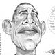 Caricature of Barack Obama – The US President.