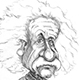 Caricature of Albert Einstein - The greatest scientist of the Twentieth Century - Gave the theory of relativity.