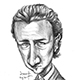 Caricature of Hollywood Actor Edward Norton.
