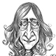 Caricature of The Original Beatle - John Lennon.