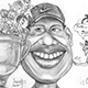 Caricature of Tiger Woods, his women, and the Devil.