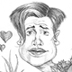 Caricature of Hollywood Actor Brendan Fraser of the George of the Jungle fame.