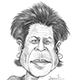 Caricature of Bollywood hero actor Shahrukh Khan.