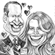 Caricature of The British Royal Couple's Caricature - Prince William and Pretty Kate.