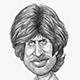 Caricature of Bollywood Actor Legend Amitabh Bachchan.