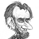 Caricature of Abraham Lincoln – the 16th President of the US.