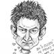 Caricature of Aamir Khan, the Bollywood actor, director, and producer - of 3 Idiots, Lagaan, Taare Zameen Per, and Peepli Live fame.