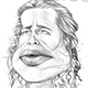 Caricature of Brad Pitt as Achilles in Troy