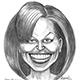 Caricature Michelle Obama – The First Lady of the US