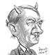 Caricature of Adolf Hitler, Nazi Dictator, German Dicator, Perpetrator of the Holocaust - Satan!