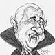 The Vampire who killed people by making them laugh - A Caricature of Leslie Nielson.