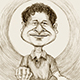 Caricature of Sachin Tendulkar - The Cricket Icon.