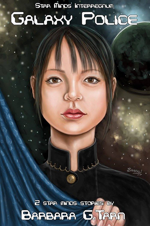 Cover Art for Novel - Face of Chinese Woman Galactic Police of Star Mind series by Author Barbara G. Tarn