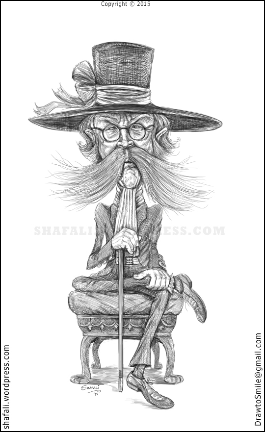 Caricature of a Grumpy Old Man (Inspired from the description of Theodore Davis in The Tutankhamun Affair by Christian Jacques)