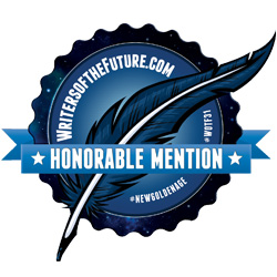 Writers of the Future - Honorable Mention badge for my science fiction short story.