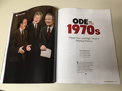 Portraits of Dale Bumpers, David Pryor, Bill Clinton - for Talk Business and Politics Magazine.