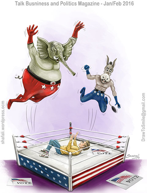 Republicans and Democrats vs. the Voter - on occasion of the first presidential debate of the 2016 US elections