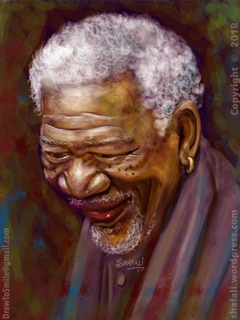 Quick Portrait of Morgan Freeman - Hollywood-Actor