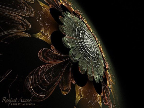 Psychedelic Spiritual Mathematical Fractal Generative Art by Ranjeet Anand - Poetry with Pixels -Perpetual Pixels- The Chthonic Eye