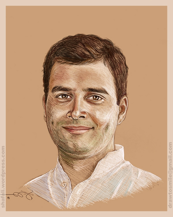 portrait-rahul-gandhi-indian-congress-president-sketch