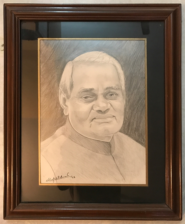 Portrait of Mr. Atal Bihari Vajpayee - Ex-Prime Minister of India.