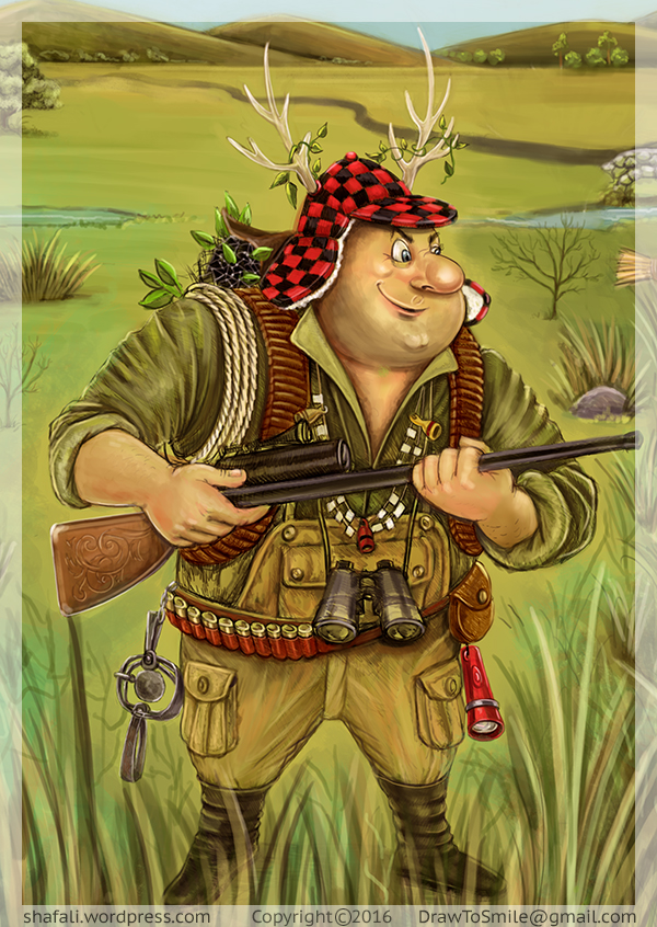 Caricature Cartoon of the Hunter - done for Talk Business and Politics Magazine