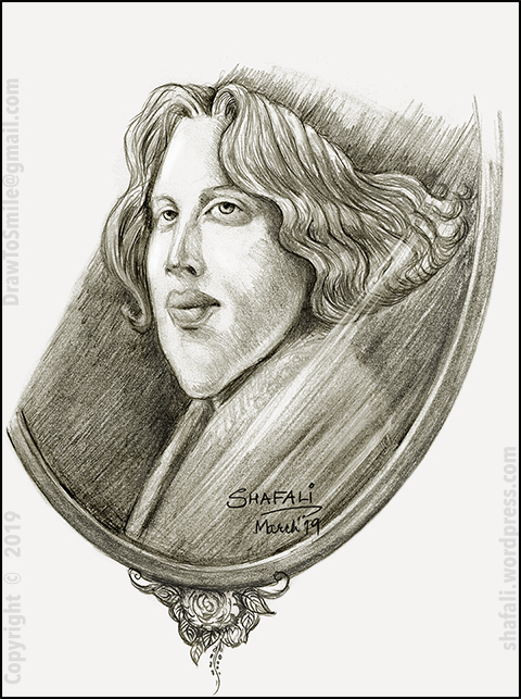 Caricature Portrait Reflection Picture of Oscar Wilde Dorian Gray Alfred Douglas and Caliban.