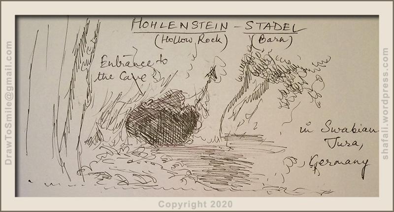 hohlenstein-stadel or the hollow cave barn in germany where the lion-man, the first example of human art was found.