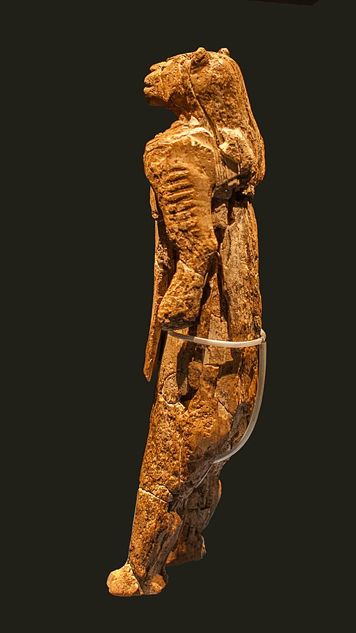 The loewenmensch figurine - or the Lion Man - carved from Mammoth Tusk - Upper Paleolithic