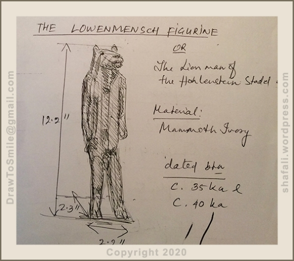 The Lowenstein figure or the Lion Man - Material: Mammoth Ivory.