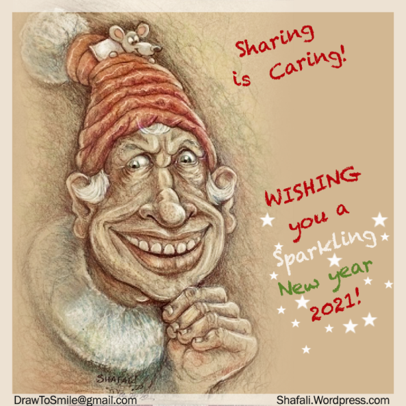 Happy New Year - 2021 - Card by Shafali - Sharing is Caring